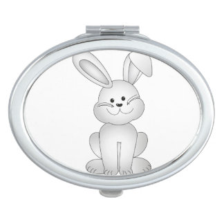 White bunny clipart mirror for makeup
