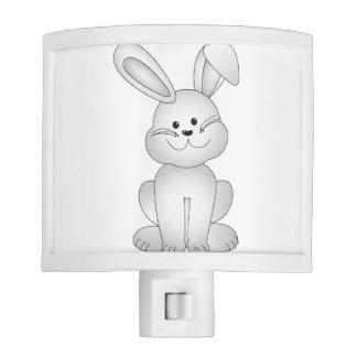 White bunny clipart night lites