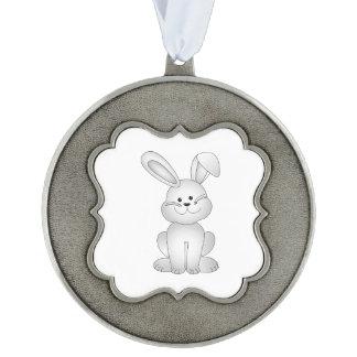 White bunny clipart ornament
