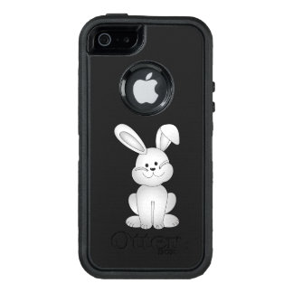 White bunny clipart OtterBox defender iPhone case