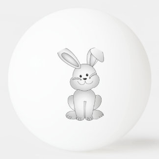 White bunny clipart ping pong ball