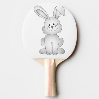 White bunny clipart ping pong paddle