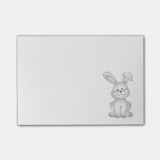 White bunny clipart post-it notes