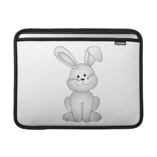 White bunny clipart sleeve for MacBook air