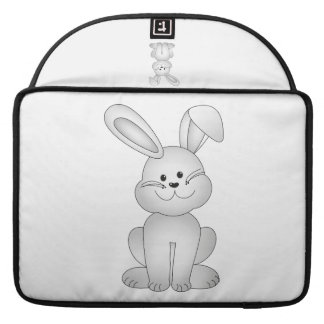 White bunny clipart sleeve for MacBook pro