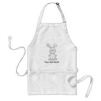 White bunny clipart standard apron