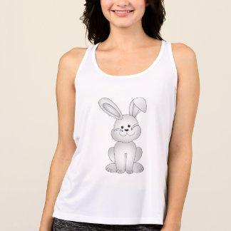 White bunny clipart tank top