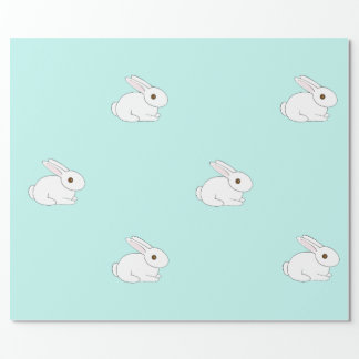 White Bunny Wrapping Paper