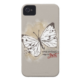 White Butterflies are a Pest Case-Mate iPhone 4 Cases