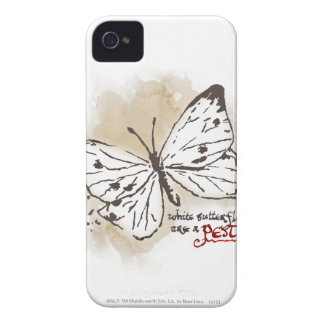 White Butterflies are a Pest iPhone 4 Covers