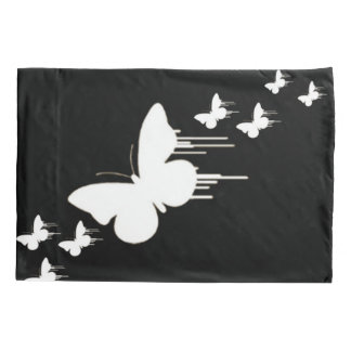White Butterfly Airbrush Art Pillowcase