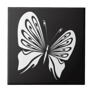 White Butterfly Tile