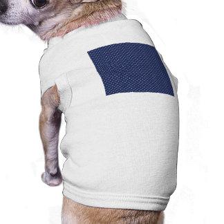 White Button Stars on Deep Blue Pet T Shirt