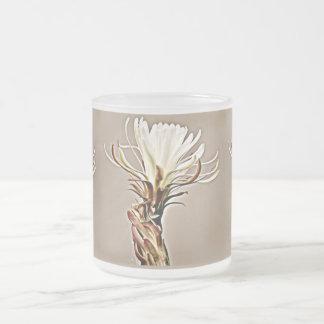 White Cactus Bloom Frosted Mug