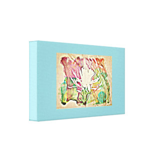 White Cactus Bloom in Chromatic Wall Canvas