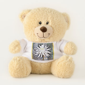 White Cactus Bloom Teddy Bear