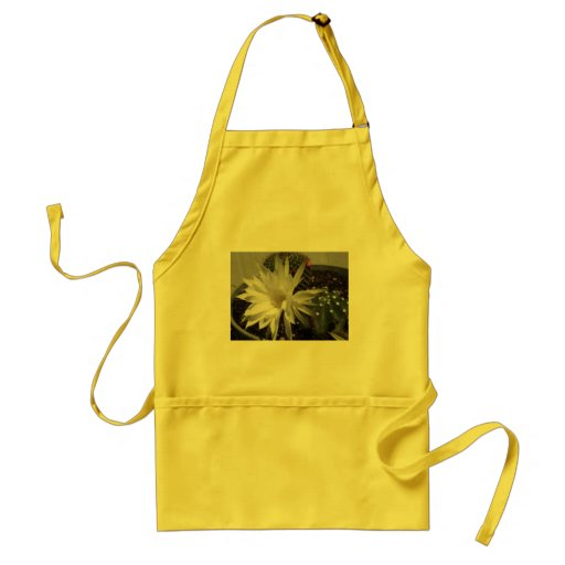 White Cactus Flower Bloom Aprons