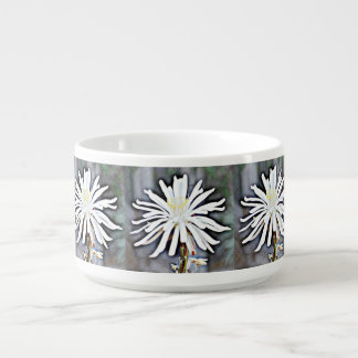 White Cactus Flower Chili Bowl