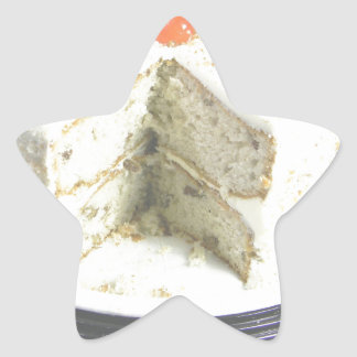 White Cake Star Sticker