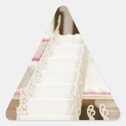White Cake Triangle Sticker