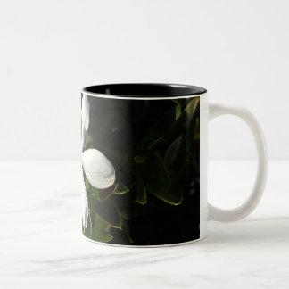 White Cali flower mug