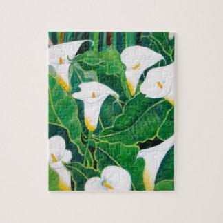 White Calla Lilies Jigsaw Puzzle