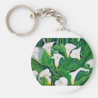 White Calla Lilies Keychain