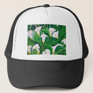 White Calla Lilies Trucker Hat