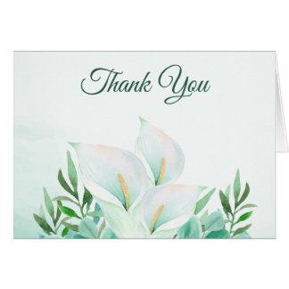White Calla Lily Elegant Thank You Card