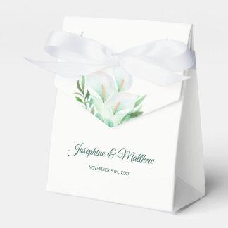 White Calla Lily Floral Wedding Favor Box
