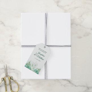 White Calla Lily Monogram Wedding Favor Tags