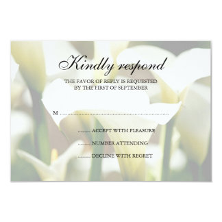 White Calla Lily Wedding Response Card