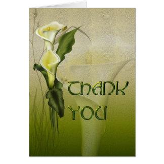 White Calla Wedding Thank You Card