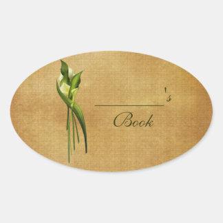 White Callas Oval Sticker