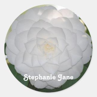 White Camellia Stickers