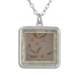 White Camillia Silver Plated Necklace