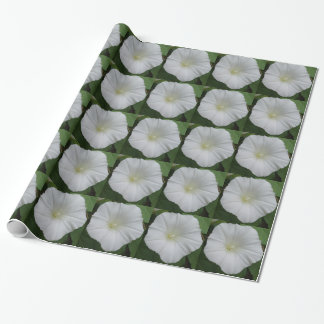 White Campanula Flower Wrapping Paper