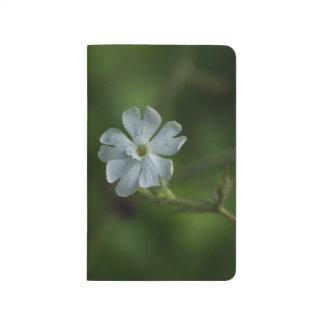 White Campion Wildflower Floral Pocket Journal