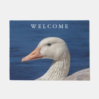White Canadian Goose Doormat