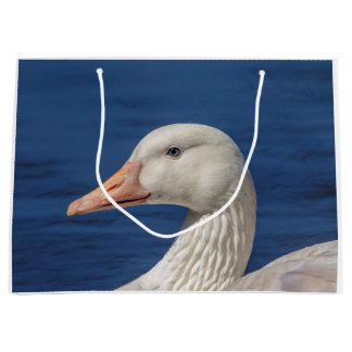 White Canadian Goose Large Gift Bag