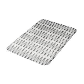 White cane wicker bath mat