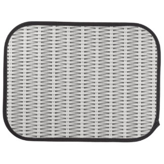 White cane wicker car mat