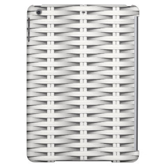White cane wicker cover for iPad air