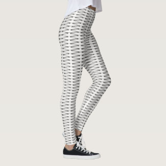 White cane wicker leggings