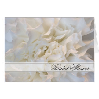White Carnation Floral Bridal Shower Invitation