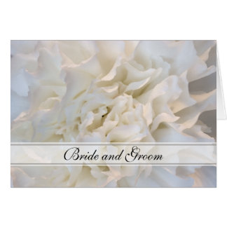 White Carnation Floral Wedding Invitation