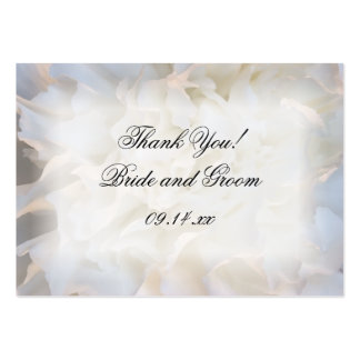 White Carnation Thank You Wedding Favor Tags Large Business Card