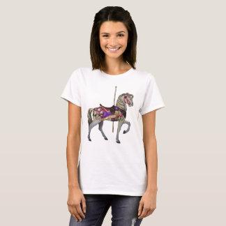 White Carousel Horse T-Shirt
