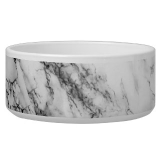 White Carrara Marble Pet Bowl