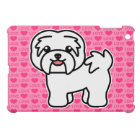 White Cartoon Havanese Love Cover For The iPad Mini